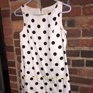 Lightweight summer dress - white with black dots